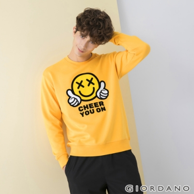 GIORDANO 男裝CHEER YOU ON大學T恤 - 06 侏儸紀黃金
