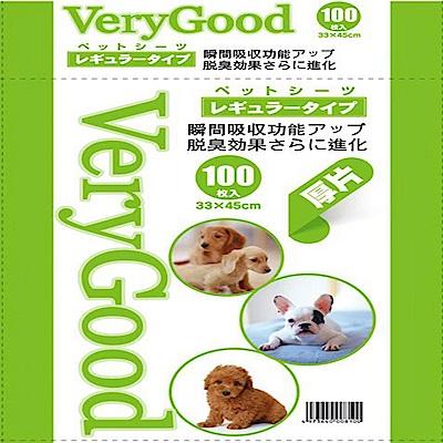 日本Very Good 加厚版長效吸收款尿布墊-100片x2包組