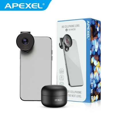 【APEXEL】10X微距手機專用鏡頭(APL-HD5M)