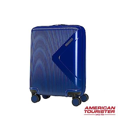 AT美國旅行者 20吋Modern Dream都會光澤防刮耐磨硬殼TSA登機箱(海軍藍)
