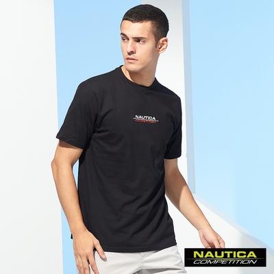Nautica COMPETITION男裝LOGO圖騰短袖T恤-黑