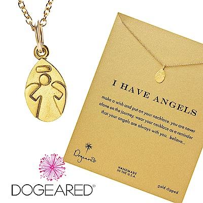 Dogeared 天使 金色許願項鍊 I have angels 守護天使 附原廠盒