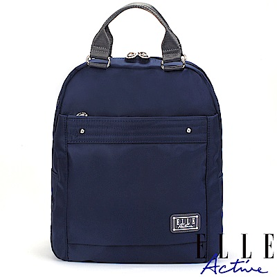 ELLE Active 優雅隨行系列-防盜 手提後背包-深藍色