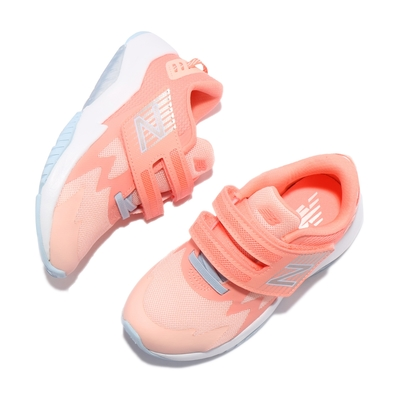 New Balance 慢跑鞋 Rave Run W 寬楦 童鞋 紐巴倫 魔鬼氈 輕量型透氣網布 輕量 緩震 橘銀 PTRAVPPW