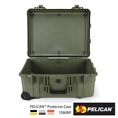 美國 PELICAN 1560NF 輪座拉桿氣密箱-空箱(綠)