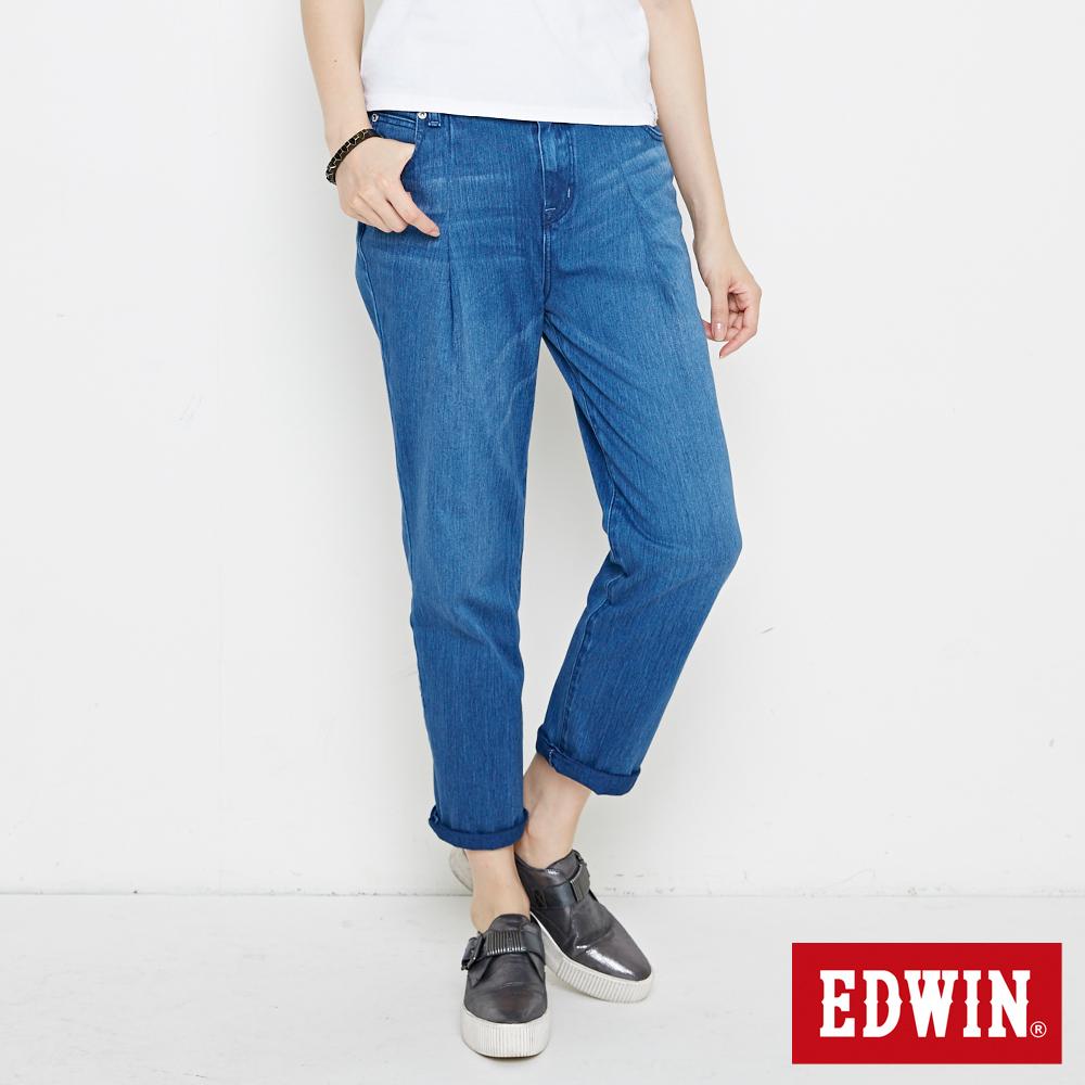 EDWIN 迦績褲JERSEYS棉感老爺褲-女-漂淺藍