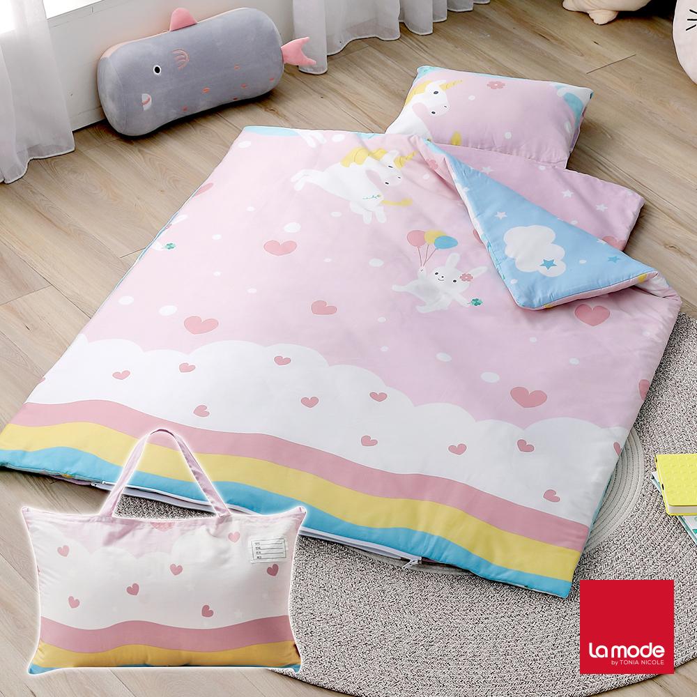 La mode寢飾 遊LOVE園睡寶包 環保印染100%精梳棉兒童睡袋