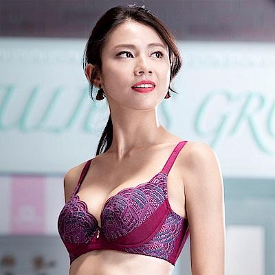 華歌爾-摩奇X挺魔力胸罩B-C罩杯內衣(紫)機能集中