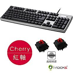 i-Rocks K68MNF側刻無背光指紋辨識機械式鍵盤-德國Cherry紅軸