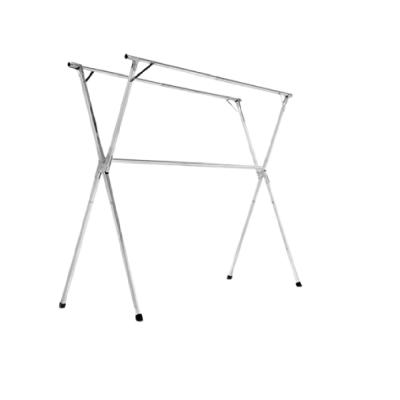 X型2米4全不銹鋼免組裝可伸縮晾曬衣架