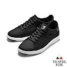 TRAVEL FOX(男) 輕雲系列  針織布面輕量抗菌都會運動鞋 - 黑色