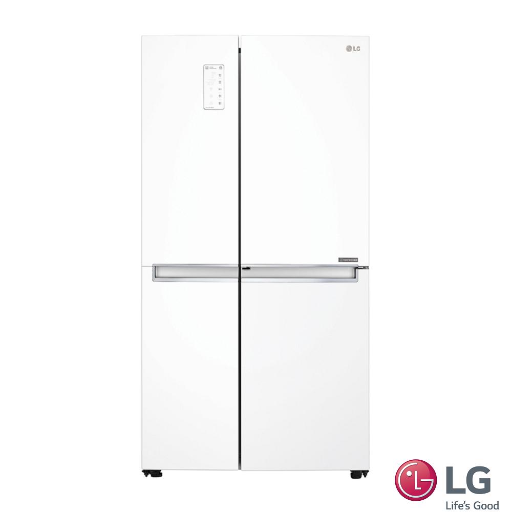 LG 830公升門中門對開冰箱(晶鑽白)GR-DL80W