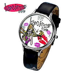 Luscious Girls浪漫少女 時尚耀動華麗個性風鑽錶(LG003D黑)