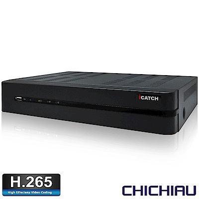 奇巧 H.265 4路4聲800萬 2160P iCATCH數位監控錄影主機(警報輸入)