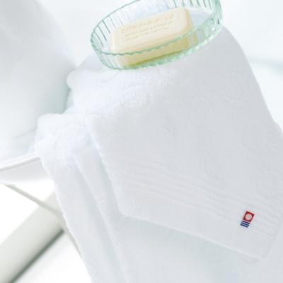 日本派迪 今治飯店用弦月100%純綿柔膚方巾-純白