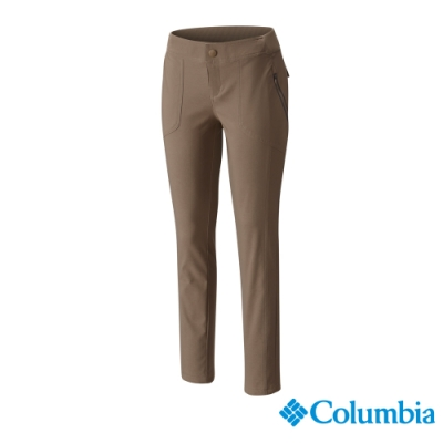 Columbia 哥倫比亞 女款- 防曬50防潑長褲-棕褐 UAK03370