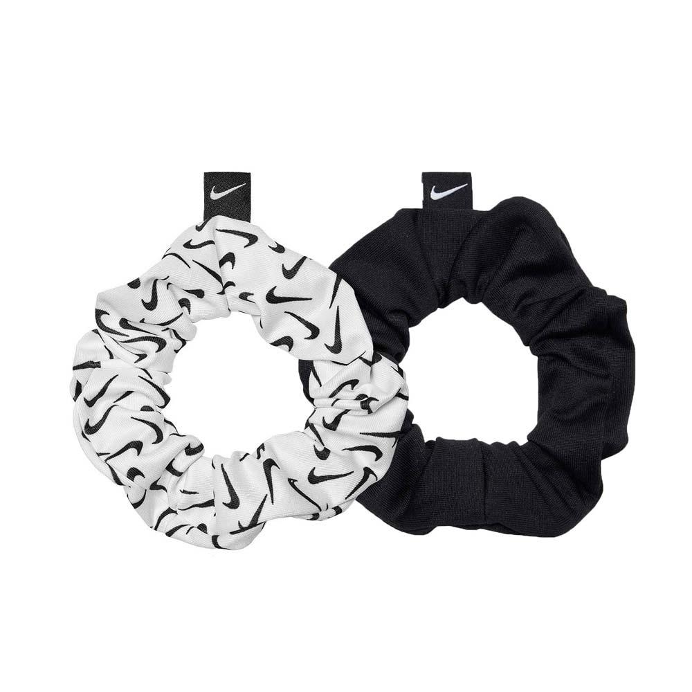 NIKE GATHERED 髮圈 2.0-二入組-髮帶 慢跑 路跑 有氧 瑜珈 健身 N1002455091OS 黑白