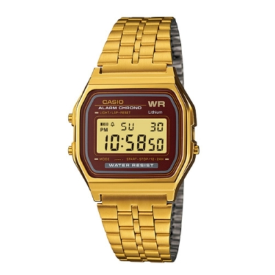 CASIO卡西歐 復古方形經典電子錶(A159WGEA-5)