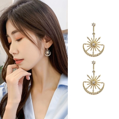梨花HaNA 韓國古典星月希臘女神耳環