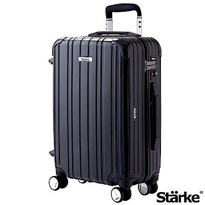 Starke 旅人系列 22吋可登機TSA海關鎖拉鏈行李箱 -黑色