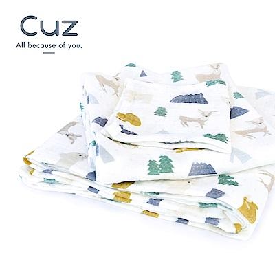 【Cuz】小鹿的朋友圈-藍山(紗布巾)90cm