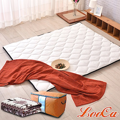 (開學組)LooCa 3M防潑水-超厚8cm兩用日式床墊-加大6尺