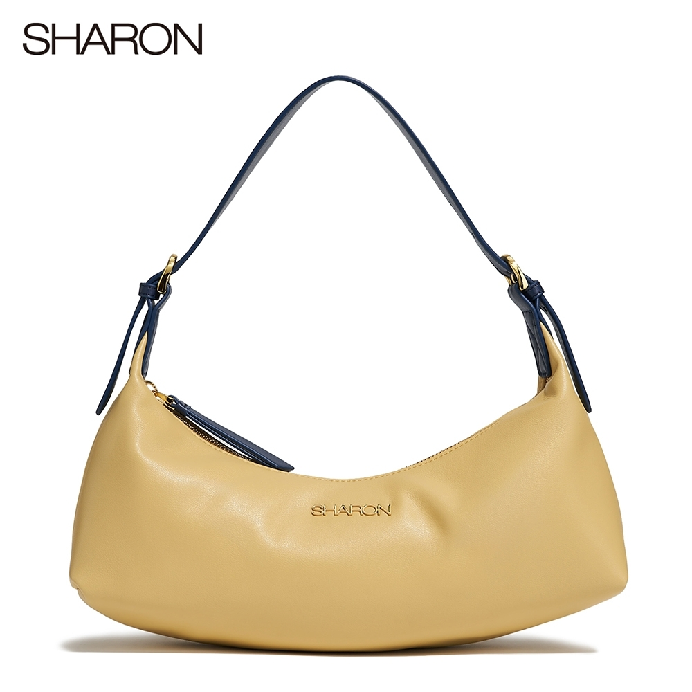 【SHARON 雪恩】頭層牛皮Billie多揹帶船型包(黃色12201YE)