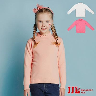 JJLKIDS 小名媛波浪高領毛衣(3色)