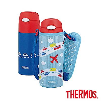 (9元加購)THERMOS膳魔師不鏽鋼真空保冷瓶0.4L(FHL-400F)