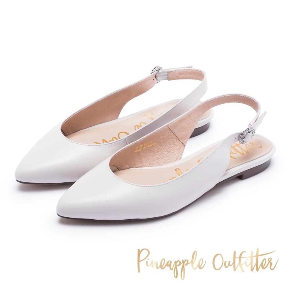 Pineapple Outfitter -繫帶尖頭平底涼鞋-白色