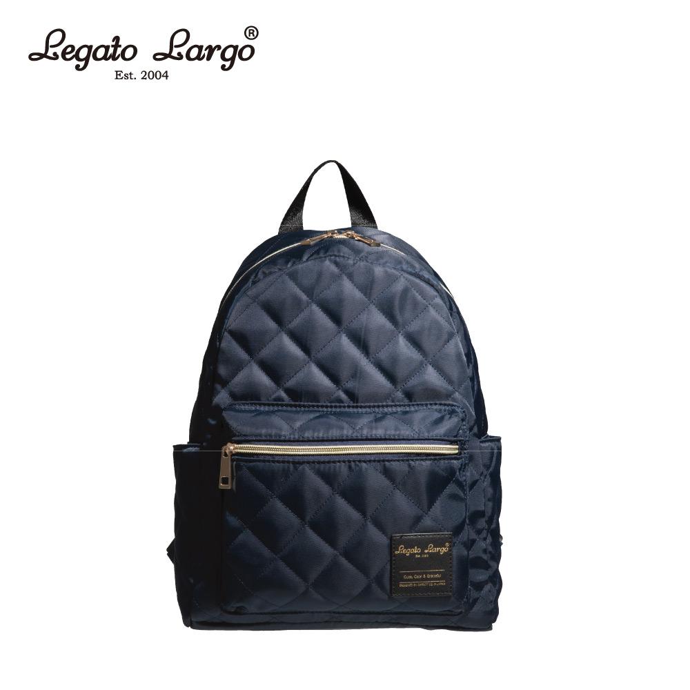 Legato Largo 菱格後背包-深藍 LS-G0773NV