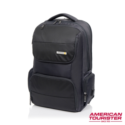 AT美國旅行者 Segno可鎖式可擴充筆電收納後背包17 (灰)