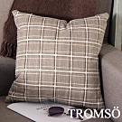 TROMSO 品味英倫棉麻抱枕 (英倫格子淺咖)