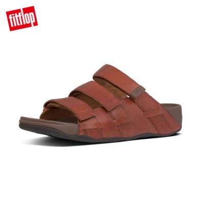 FitFlop ETHAN SLIDES 可調整式魔鬼氈涼鞋 暗紅色