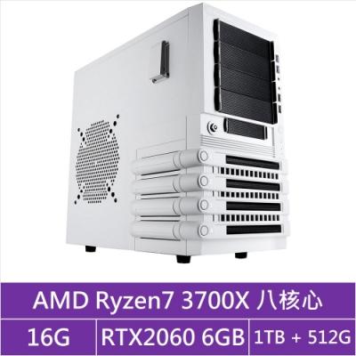 (無卡分期12期)華碩X570平台[貪婪火神]R7八核RTX2060獨顯電玩機
