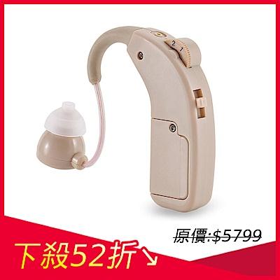 [時時樂限定]金德恩 日本耳寶 樂齡友善專利 充電式設計 耳掛型單機助聽器-附收納盒