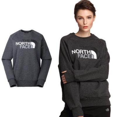 The North Face 中性款 輕量舒適保暖彈力針織長袖上衣_深灰 N