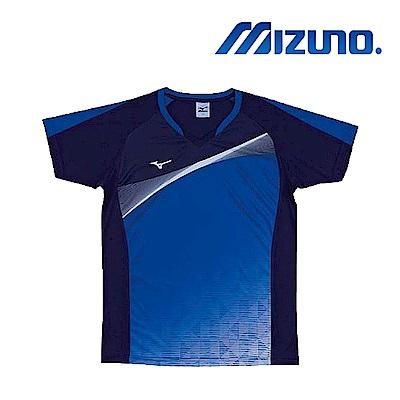 MIZUNO 美津濃 男女短袖排球T恤 藍 V2TA7G1713