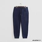Hang Ten - 男裝 - 綁帶彈性牛仔刷色束口褲 - 深藍