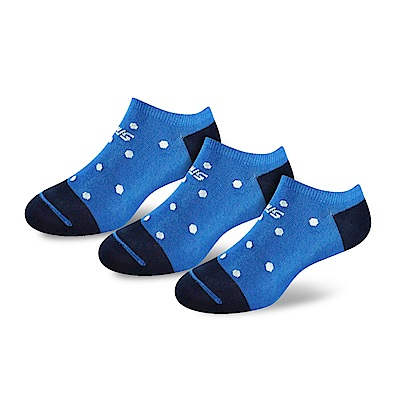 SNUG健康除臭襪 奈米消臭時尚船襪3入組(藍白點)