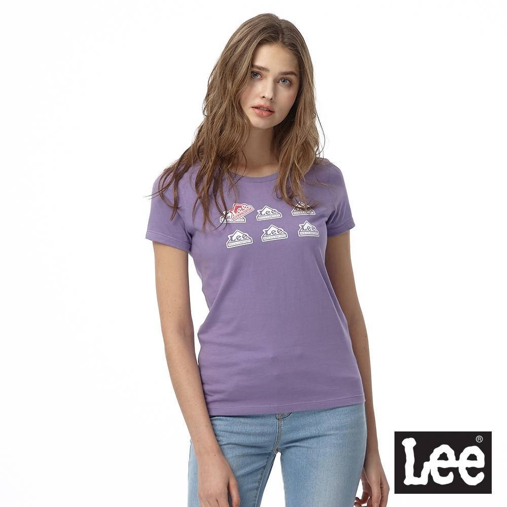 Lee LEE 小房子印花圓領 女 紫