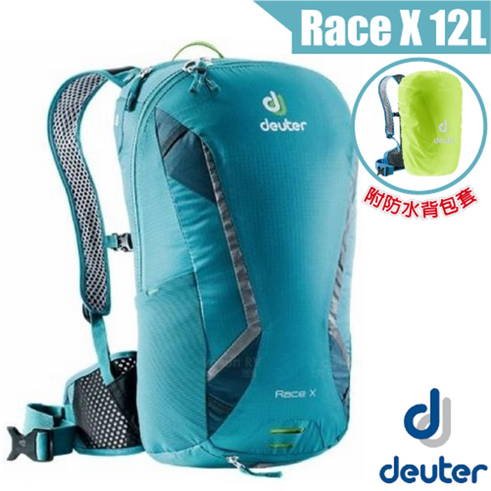 德國 Deuter Race X 12L 輕量級透氣自行車背包_淺藍
