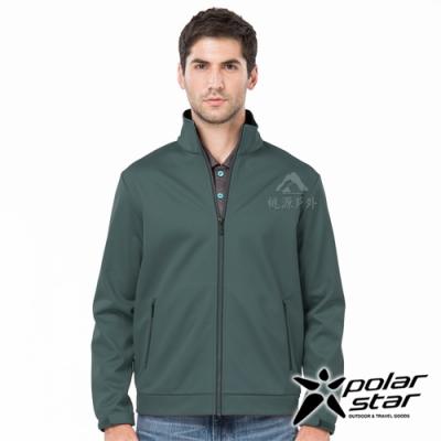 PolarStar 男 防風Soft Shell外套『藍綠』P19203