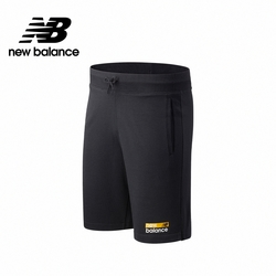【New Balance】左腿品牌棉短褲_男性_深灰色_MS11901B