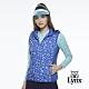 【Lynx Golf】女款防潑水內刷毛愛心印花可拆可調節式連帽無無袖背心-寶藍色 product thumbnail 2