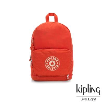 Kipling 陽光橘經典LOGO二合一後背側背包-CLASSIC NIMAN FOLD
