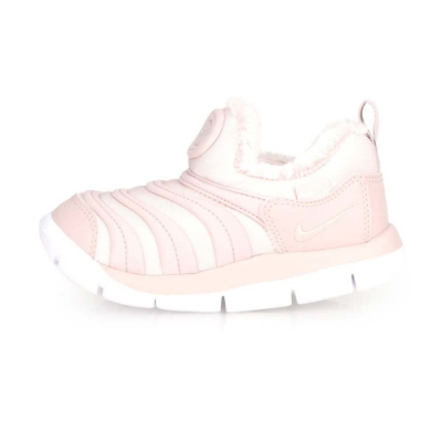 NIKE DYNAMO FREE 女童毛毛蟲保暖運動鞋-刷毛 香檳粉