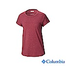 Columbia 哥倫比亞女款-UPF15快排短袖上衣-紫紅 UAR25910PD