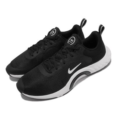 Nike 訓練鞋 Renew In Season TR 女鞋 寬楦 健身房 支撐 穩定 包覆 球鞋 黑 白 DN5116-004