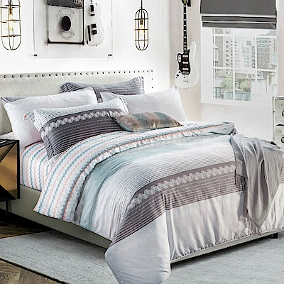 Betrise幽含語  加大-3M專利天絲吸濕排汗四件式兩用被床包組